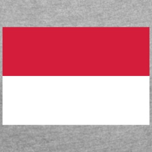 National Flag Of Indonesia - T-shirt med upprullade ärmar dam