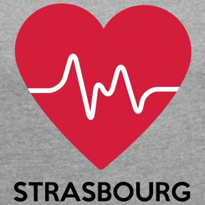 heart Strasbourg - Women's T-shirt with rolled up sleeves