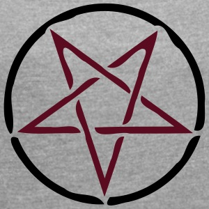 pentagram - Women's T-shirt with rolled up sleeves