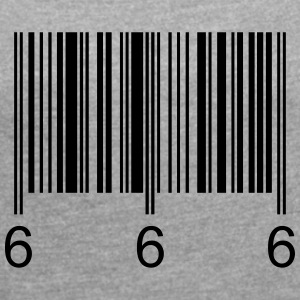 Barcode666 - Women's T-shirt with rolled up sleeves
