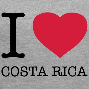I love Costa Rica - Women's T-shirt with rolled up sleeves