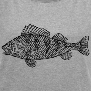 Beautiful Bass 2 - Women's T-shirt with rolled up sleeves