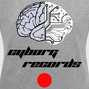 Cyborg Records T-Shirt - Women's T-shirt with rolled up sleeves