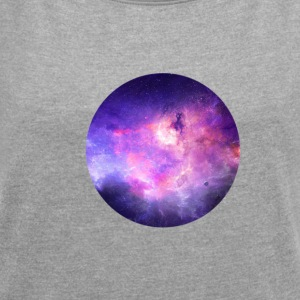 space-020 - Women's T-shirt with rolled up sleeves