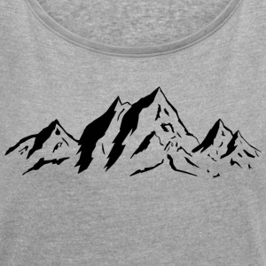 mountains - Women's T-shirt with rolled up sleeves