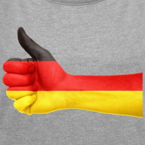 GERMANY DAUMEN T-SHIRT - Women's T-shirt with rolled up sleeves