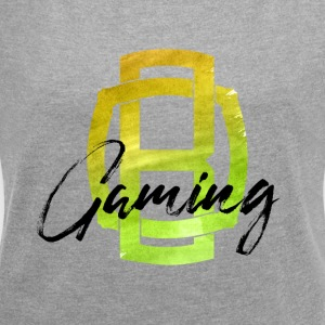OB Gaming / Black lettering - Women's T-shirt with rolled up sleeves
