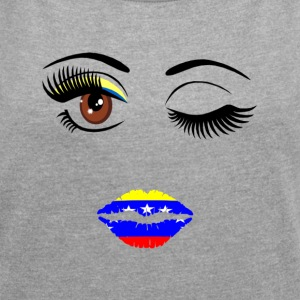 venezuela chica - Women's T-shirt with rolled up sleeves