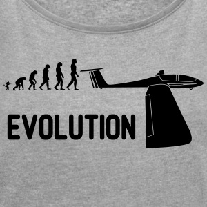 Evolution glider - Women's T-shirt with rolled up sleeves