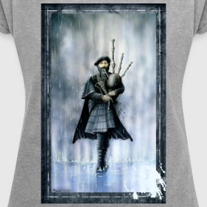 Bagpiper - Women's T-shirt with rolled up sleeves
