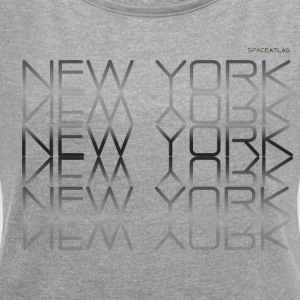 Space Atlas Tee New York New York - Dame T-shirt med rulleærmer