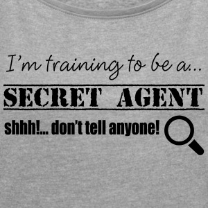 Secret Agent - Women's T-shirt with rolled up sleeves