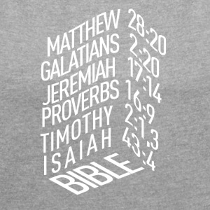 Bible verses - Women's T-shirt with rolled up sleeves