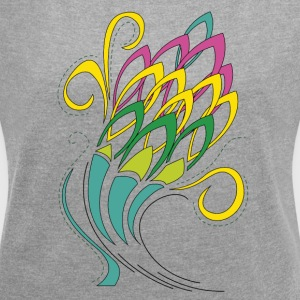 floral cone - Women's T-shirt with rolled up sleeves