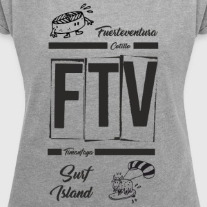 FUERTEVENTURA_1 - Women's T-shirt with rolled up sleeves