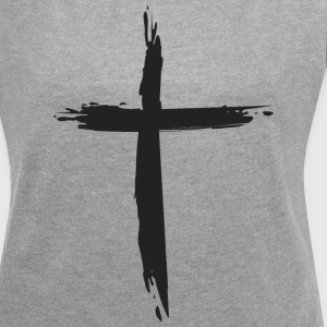 cross - Women's T-shirt with rolled up sleeves