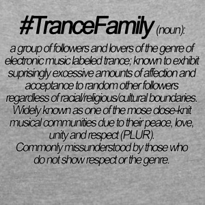 Definition of TranceFamily - Frauen T-Shirt mit gerollten Ärmeln