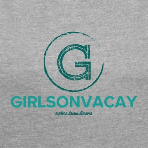 GIRLSONVACAY - Women's T-shirt with rolled up sleeves