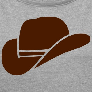 Cowboy Hat - Women's T-shirt with rolled up sleeves