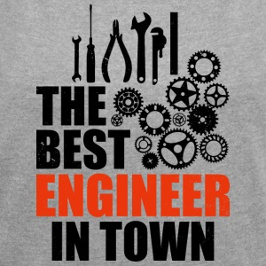 Best Engineer In Town - Women's T-shirt with rolled up sleeves