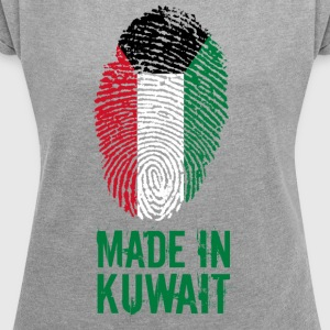 Made in Kuwait / الكويت - Women's T-shirt with rolled up sleeves