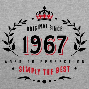 original since 1967 simply the best 50th birthday - Women's T-shirt with rolled up sleeves