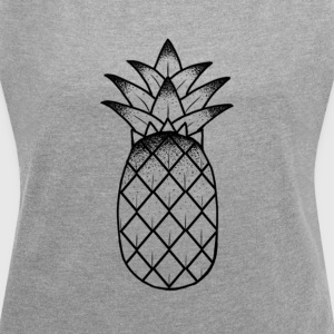 PINEAPPLE - Women's T-shirt with rolled up sleeves