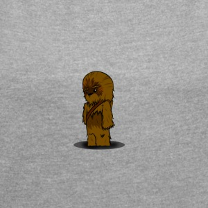 chewbacca since fiction - Women's T-shirt with rolled up sleeves