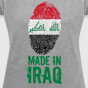 Made in Iraq / Made in Iraq العراق - Women's T-shirt with rolled up sleeves