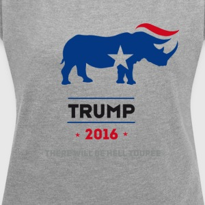 trump President Republican usa - Women's T-shirt with rolled up sleeves