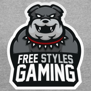 Freestylesgaming - Women's T-shirt with rolled up sleeves