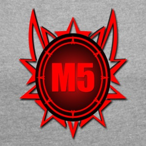 M5 Logo - Women's T-shirt with rolled up sleeves
