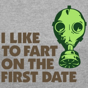 I Like To Fart On The First Date. - Women's T-shirt with rolled up sleeves