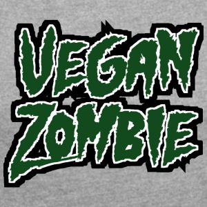 Zombie: Vegan Zombie - Women's T-shirt with rolled up sleeves