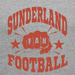 Sunderland Football Fan - Women's T-shirt with rolled up sleeves