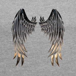 Angelwings - Women's T-shirt with rolled up sleeves
