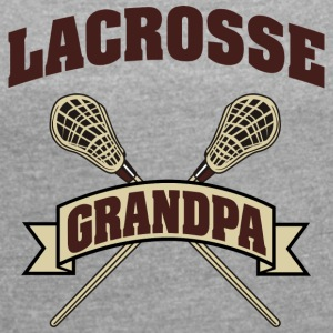 Lacrosse Grandpa - Women's T-shirt with rolled up sleeves