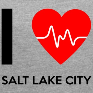 I Love Salt Lake City - Jeg elsker Salt Lake City - Dame T-shirt med rulleærmer