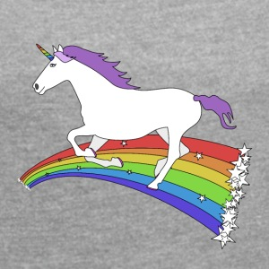 Unicorn - Women's T-shirt with rolled up sleeves