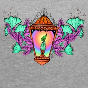 raimbow lantern - Women's T-shirt with rolled up sleeves