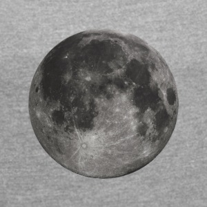 Glowing Full Moon - Women's T-shirt with rolled up sleeves