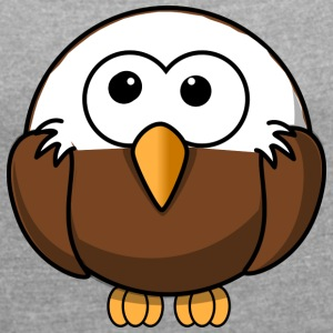 Eagle with bald comic style - Women's T-shirt with rolled up sleeves
