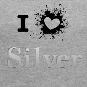 ILove silver sprd - Women's T-shirt with rolled up sleeves