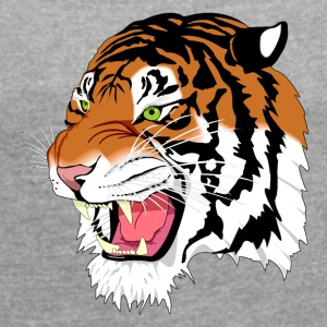 Sumatra Tiger - Women's T-shirt with rolled up sleeves