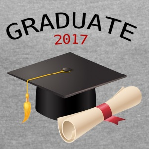 GRADUATE 2017 - Women's T-shirt with rolled up sleeves