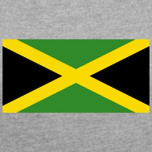 National Flag Of Jamaica - Dame T-shirt med rulleærmer