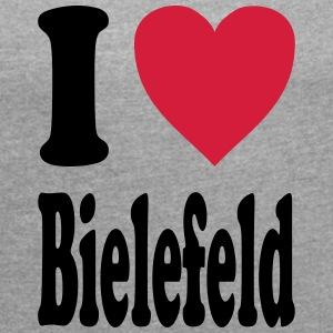 I love Bielefeld - Women's T-shirt with rolled up sleeves
