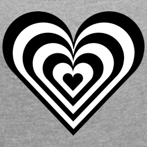 Crosswalk heart - Women's T-shirt with rolled up sleeves