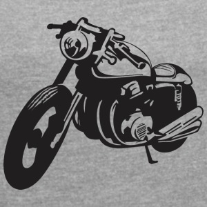 Biker motorcycle - Women's T-shirt with rolled up sleeves