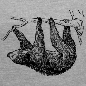 sloth - Women's T-shirt with rolled up sleeves